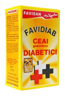 Favidiab ceai doze