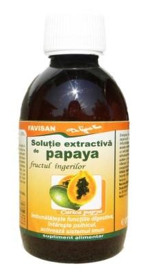 Solutie extractiva de papaya
