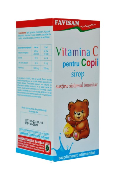 Vitamina C pentru copii - sirop