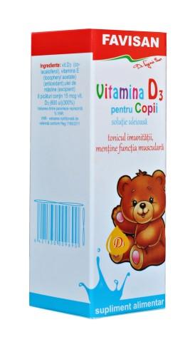 Vitamina D3 pentru copii